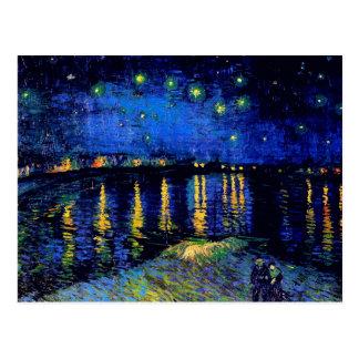 Van Gogh Starry Night Over Rhone  (F474) Fine Art Postcard