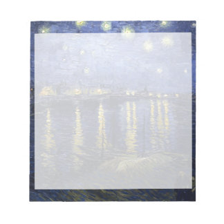 Van Gogh | Starry Night Over The Rhone | 1888 Notepad