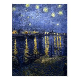 van Gogh - Starry Night Over the Rhone (1888) Postcard