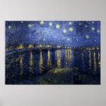 van Gogh - Starry Night Over the Rhone (1888) Print