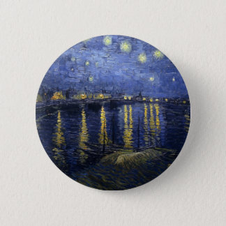 Van Gogh Starry Night Over the Rhone 6 Cm Round Badge