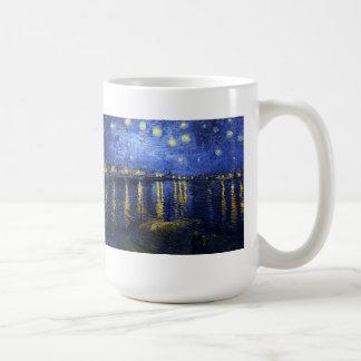 Van Gogh Starry Night Over The Rhone Basic White Mug