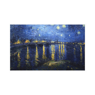 Van Gogh: Starry Night Over the Rhone Canvas Print