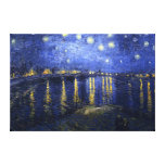 Van Gogh: Starry Night Over the Rhone Canvas Prints
