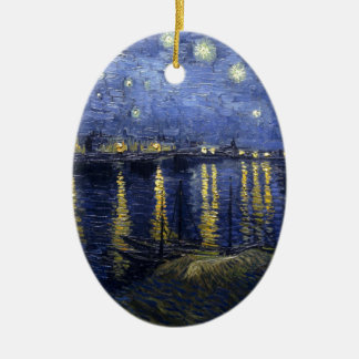 Van Gogh Starry Night Over The Rhone Christmas Ornament