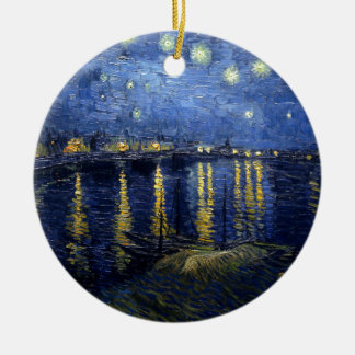 Van Gogh: Starry Night Over the Rhone Christmas Ornament