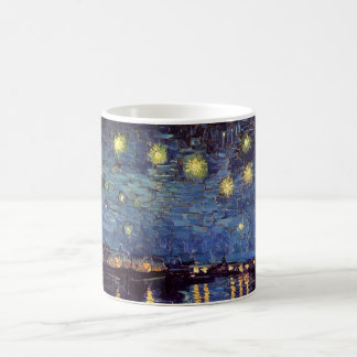 Van Gogh Starry Night Over the Rhone, Fine Art Basic White Mug