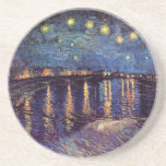 Van Gogh Starry Night Over the Rhone, Fine Art Beverage Coaster