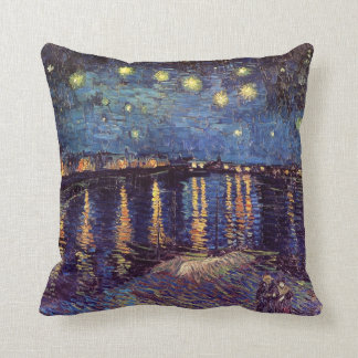 Van Gogh Starry Night Over the Rhone, Fine Art Cushion