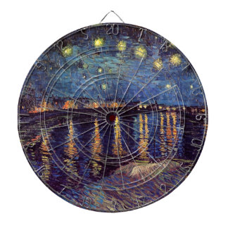 Van Gogh Starry Night Over the Rhone, Fine Art Dartboard