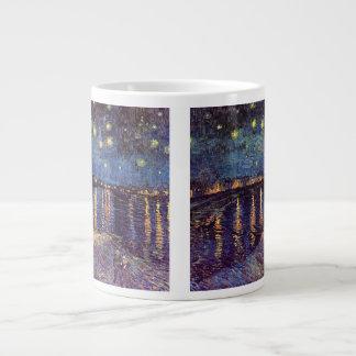 Van Gogh Starry Night Over the Rhone, Fine Art Giant Coffee Mug