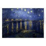 Van Gogh Starry Night Over The Rhone Greeting Card
