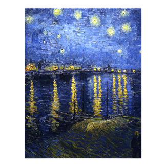 Van Gogh Starry Night Over The Rhone Invitations