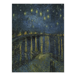 Van Gogh Starry Night Over the Rhone Magnetic Invitations