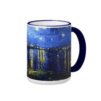 Van Gogh - Starry Night over the Rhone Ringer Coffee Mug
