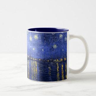 Van Gogh: Starry Night Over the Rhone Two-Tone Mug