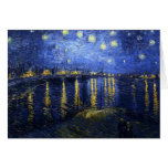 Van Gogh Starry Night Over The Rhone Note Card