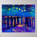 Van Gogh Starry Night Over The Rhone Pop Art