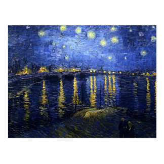 Van Gogh Starry Night Over The Rhone Postcard
