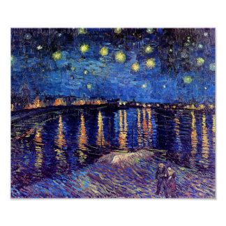 Van Gogh - Starry Night Over The Rhone Poster
