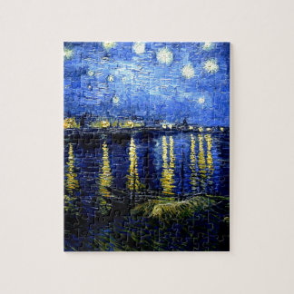 Van Gogh - Starry Night over the Rhone Puzzle