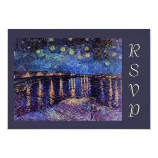 Van Gogh Starry Night over the Rhone rsvp Card