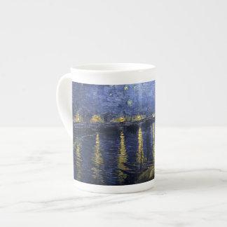 Van Gogh Starry Night Over The Rhone Bone China Mugs