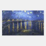 Van Gogh Starry Night Over The Rhone Stickers