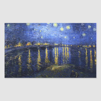 Van Gogh Starry Night Over The Rhone Stickers