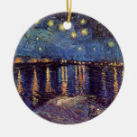 Van Gogh Starry Night Over the Rhone, Vintage Art