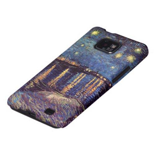 Van Gogh; Starry Night Over the Rhone, Vintage Art Samsung Galaxy S2 Covers
