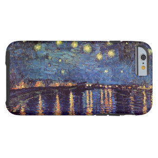 Van Gogh Starry Night Over the Rhone, Vintage Art Tough iPhone 6 Case