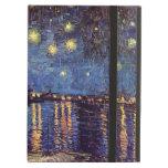 Van Gogh; Starry Night Over the Rhone, Vintage Art iPad Air Cases