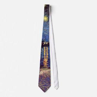 Van Gogh Starry Night Over the Rhone, Vintage Art Tie