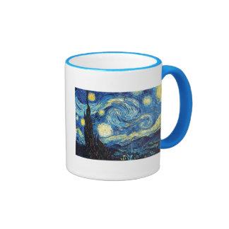 Van Gogh Starry Night Peace Love Destiny Coffee Mug