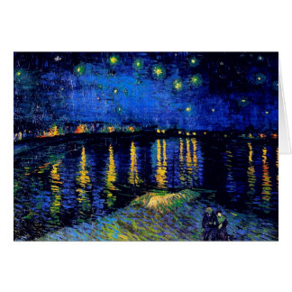 Van Gogh Starry Night Rhone (F474) Fine Art Card