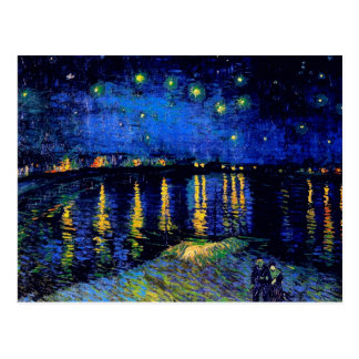 Van Gogh Starry Night Rhone (F474) Fine Art Postcard