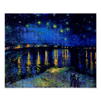 Van Gogh Starry Night Rhone (F474) Fine Art Poster