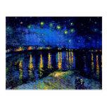 Van Gogh Starry Night Rhone Fine Vintage Post Cards
