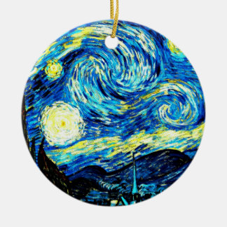 Van Gogh: Starry Night Round Ceramic Decoration