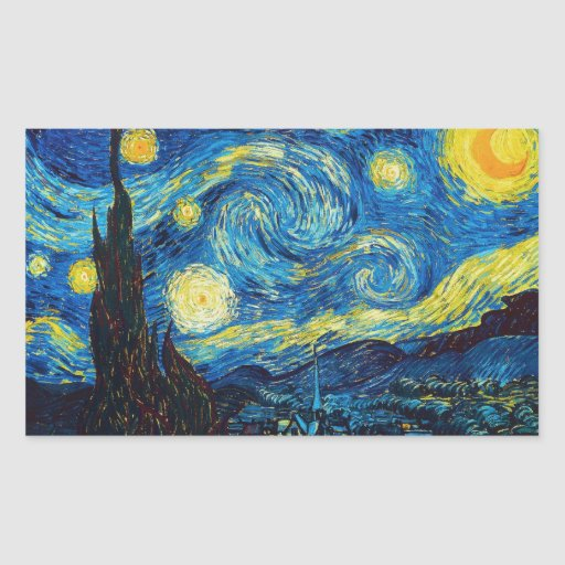 Van Gogh Starry Night Stickers