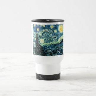 Van gogh starry night vector travel mug