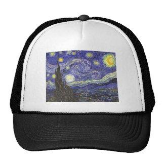 Van Gogh Starry Night, Vintage Fine Art Landscape Cap