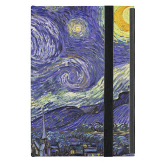 Van Gogh Starry Night, Vintage Fine Art Landscape Case For iPad Mini