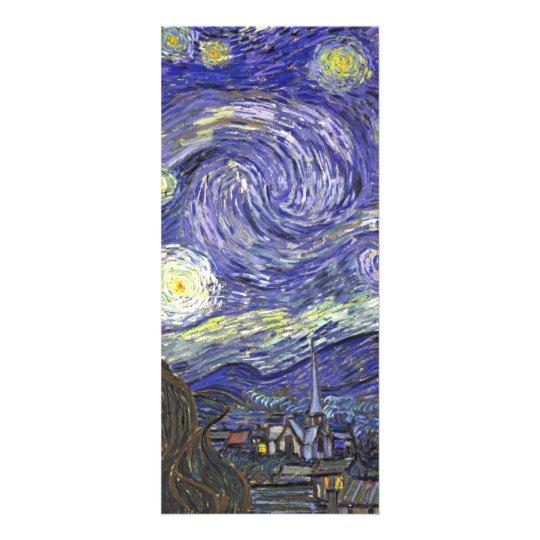 Van Gogh Starry Night, Vintage Fine Art Landscape Customised Rack Card