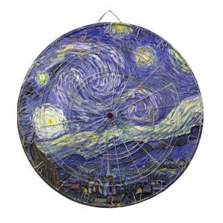 Van Gogh Starry Night, Vintage Fine Art Landscape Dartboard