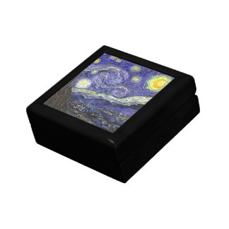 Van Gogh Starry Night, Vintage Fine Art Landscape Gift Box