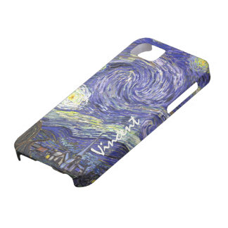 Van Gogh Starry Night, Vintage Fine Art Landscape iPhone 5 Cases