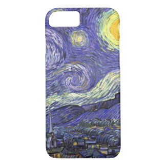 Van Gogh Starry Night, Vintage Fine Art Landscape iPhone 7 Case