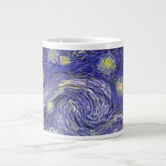Van Gogh Starry Night, Vintage Fine Art Landscape Large Coffee Mug